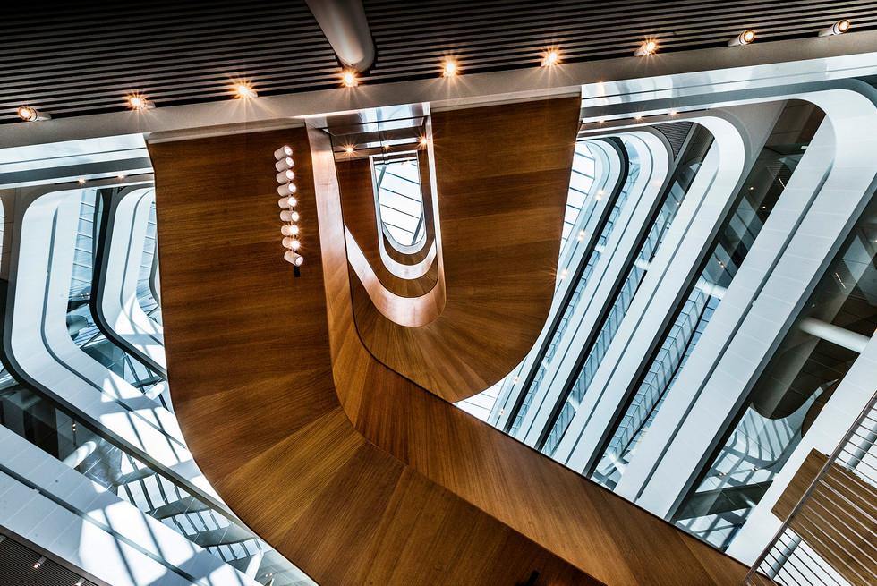 Rundvandring i Uppsala universitets nya förvaltningsbyggnad, UNT 2017.