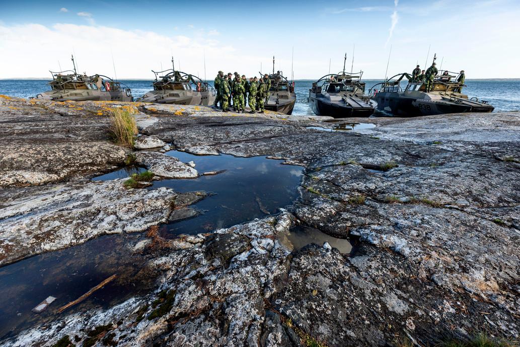 Övning på Berga örlogsskolor, Hemvärnstidningen 2019.