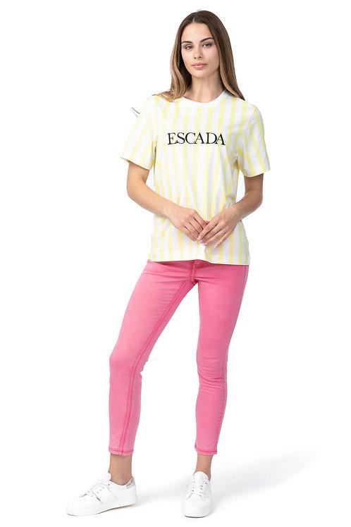 Escada Sport striped t-shirt with Ecool logo 5031721