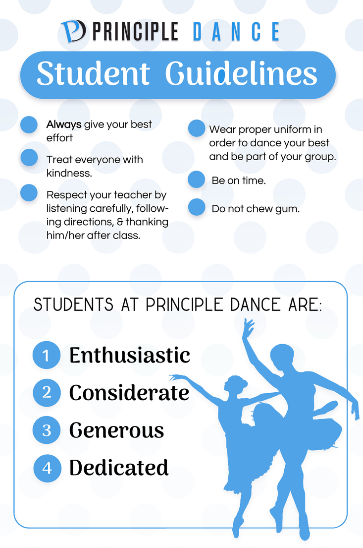 Principle Dance Student Guidelines Poster