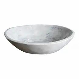 Found Large Whitewashed Shallow Wood Bowl