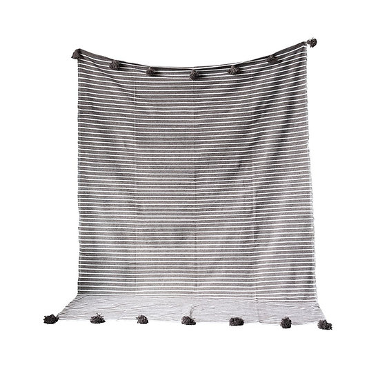 Grey Cotton Striped
