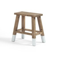 Holly Accent Stool - White Dipped