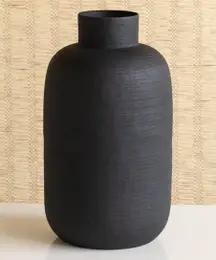 Tall Matte Black Vase
