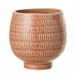 Textured Stoneware Pot