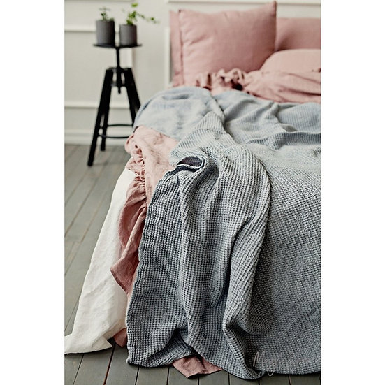 Waffle Blanket - Light Grey