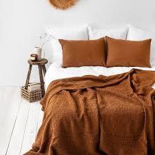 Waffle Blanket - Cinnamon