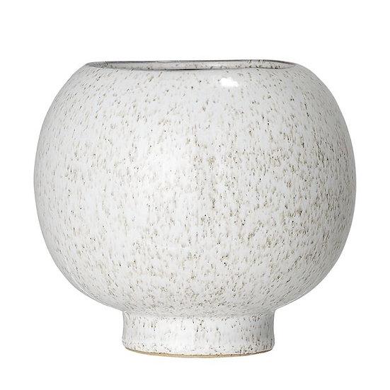 Cream Freckled Round Vase