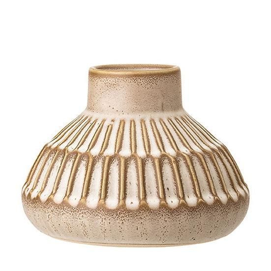 Cream Stoneware Vase