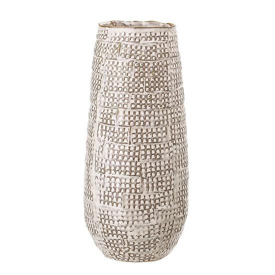 Embossed Stoneware Vase