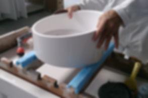 Finition à la main, vasque RING