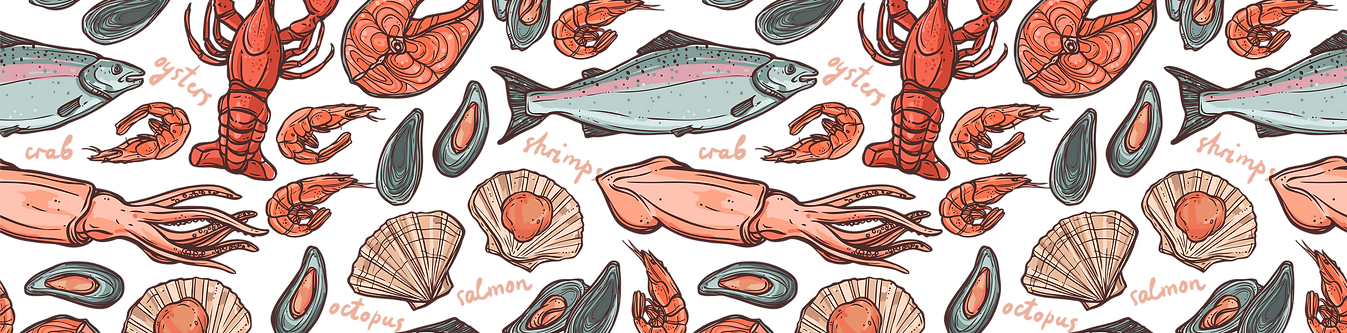 Морепродукты Запорожье, Мидия в ракушке, Морской Гребешок, Кальмар, Рыба, Креветка, Креветка тигровая