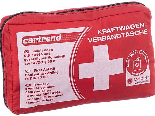 Trousse de secours norme DIN 13164 brochure incluse (Rouge)