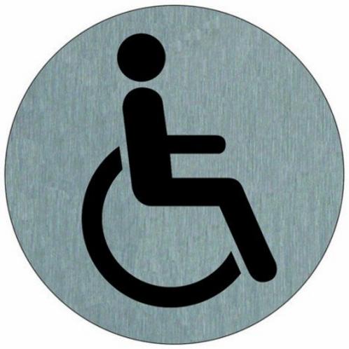 Disque W.C. handicapés en aluminium