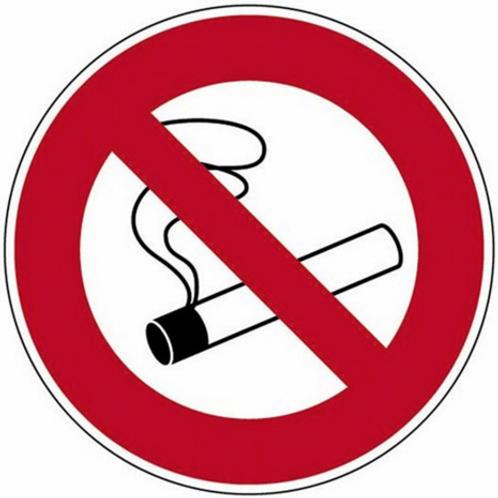 Disque Défense de fumer en plastique