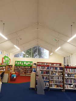 Library LED lighting project