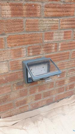 New outdoor socket
