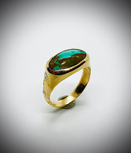 KINGS MANASSA TURQUOISE 14ky GOLD RING