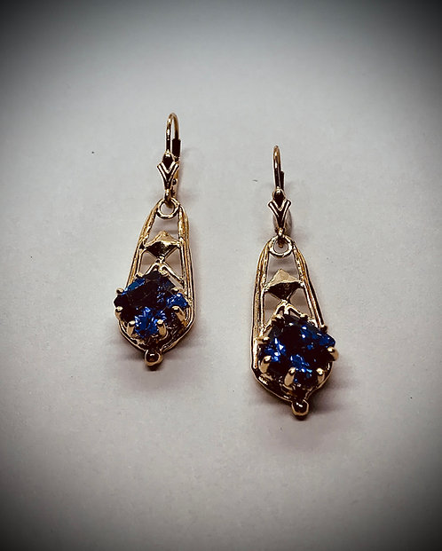 TANZANITE 14K YELLOW GOLD EARRINGS