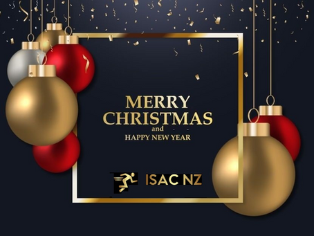 Merry Christmas and happy new year from the team at ISAC NZ