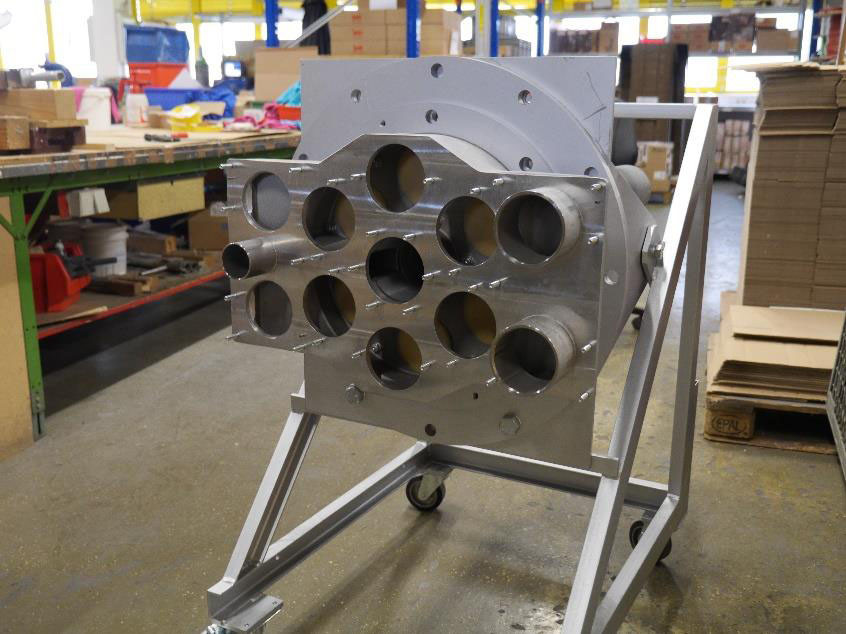 One of LEILAC pilot's burners being fabricated