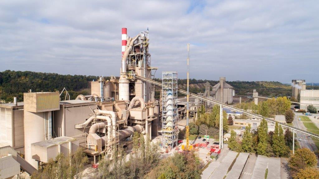 The final stages of LEILAC pilot's supporting structure and furnace are assembled