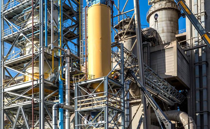the LEILAC pilot plant's silo