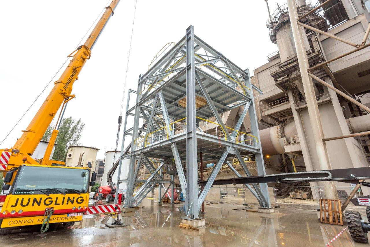 LEILAC pilot's supporting structure continues to be assembled