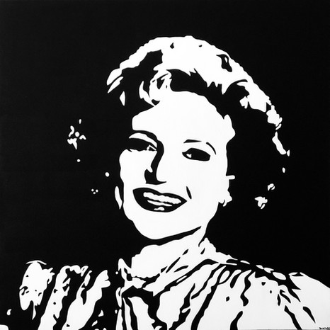 """BETTY WHITE, ACRYLIC ON CANVAS, 30"""" X 30"""" - SOLD"""