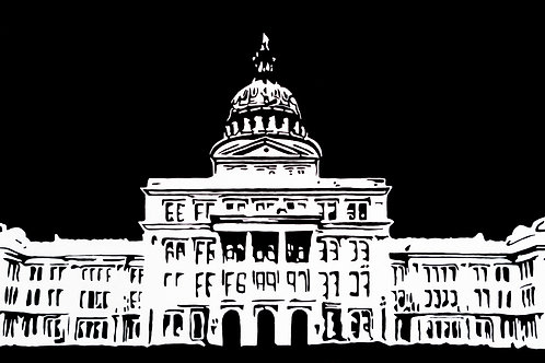"Texas State Capitol, 36""x18"""