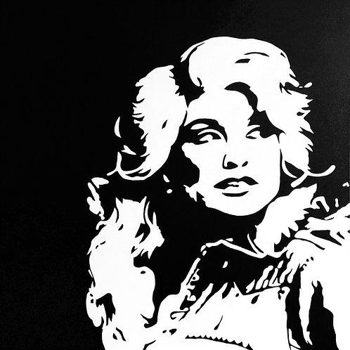"""Dolly Parton, 30""""x30"""""""