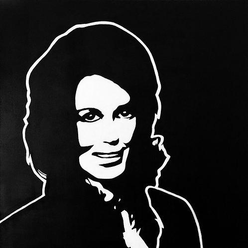 """Loretta Lynn, 30""""x30"""""""