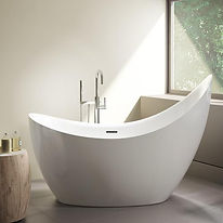 Fleurco freestanding tub-Crescent Grand