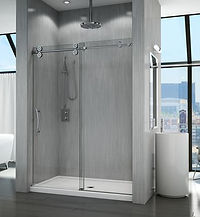 "Fleurco Kinetik in-line KT 1/2"" glass shower system"