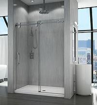 "Fleurco Kinetik in-line KT 1/2"" glass shower system"