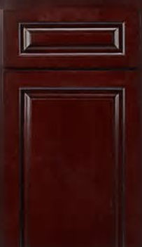 black cherry cabinet door