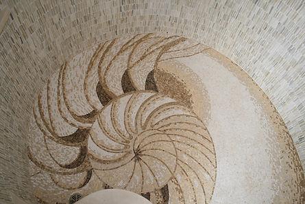 Custom mosac shell shower floor