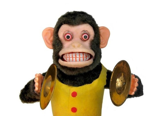 Strive to be a Monkey with Cymbals
