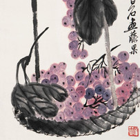 """""""Grasshoper and Grapes"""" by Qi Baishi (2 sessions)"""