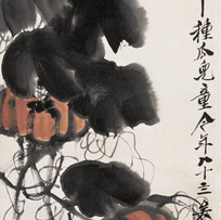 """""""Pumpkin and dragonfly"""" by Qi Baishi (2 sessions)"""