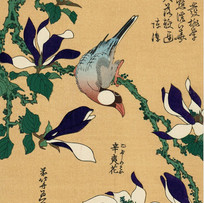 """""""Java Sparrow and Magnolia"""" by Hokusai (4 sessions)"""
