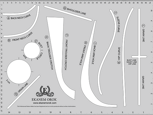 Professional Pattern Making Ruler