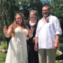 Officianting a wedding in a sunken garden