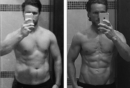 body transformation, weight los, fat loss, before and after, lean mass