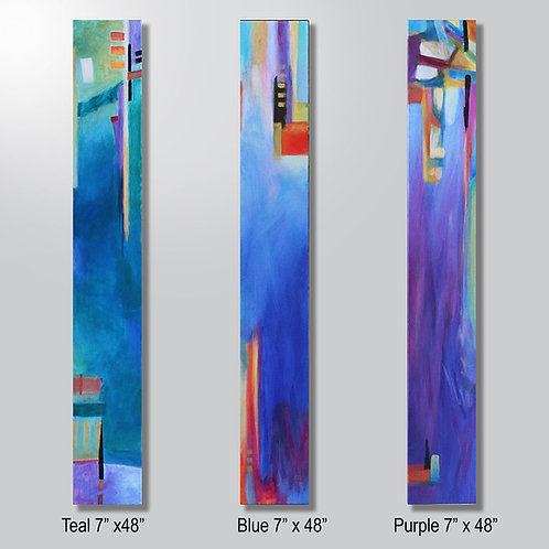 """Teal or Blue or Purple 7"""" x 48"""" sold individually"""