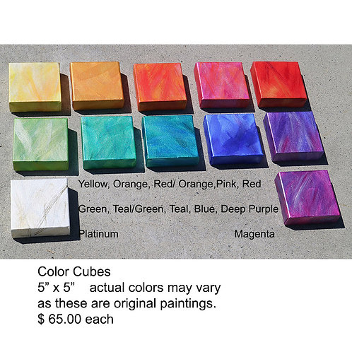 "Color Cubes 5"" x 5"" sold separately"