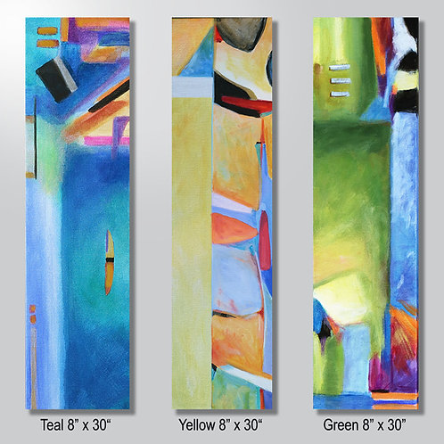 """Teal or Yellow or Green 8"""" x 30"""" sold separately"""