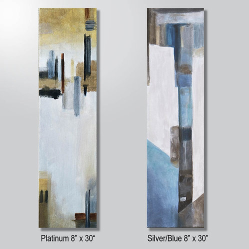 """Platinum or Silver/Blue 8"""" x 30"""" sold separately"""