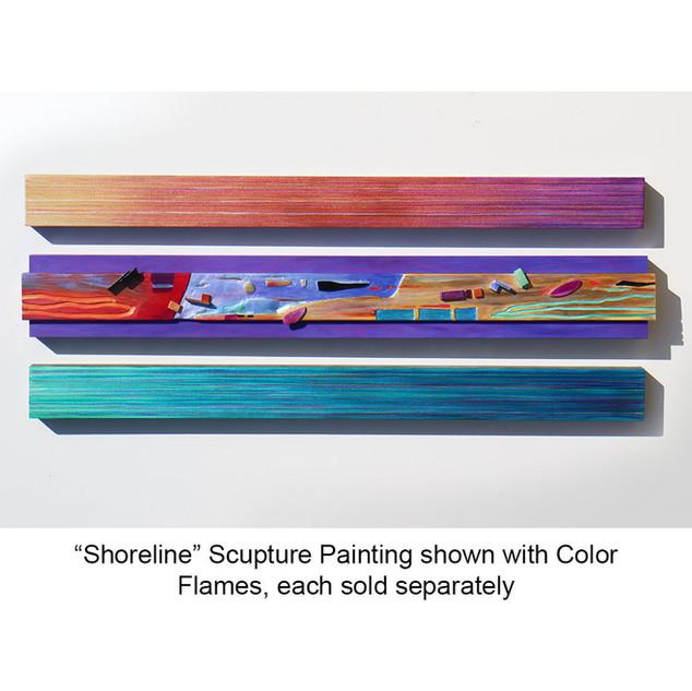 """Shoreline"" Scupture Painting"
