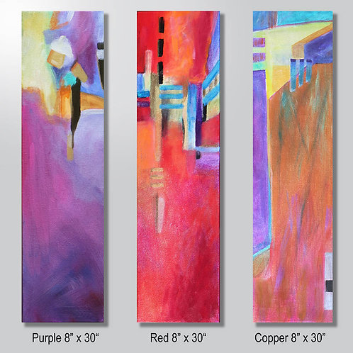 """Purple or Red or Copper 8"""" x30"""" sold separately"""